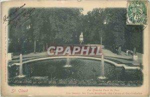 Postcard Old St Cloud Grandes Eaux Park The Three Basins Bouillons