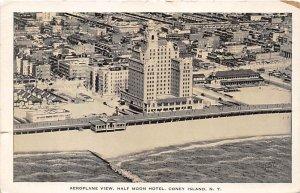 Aeroplane View, Half Moon Hotel Coney Island, NY, USA Amusement Park Unused