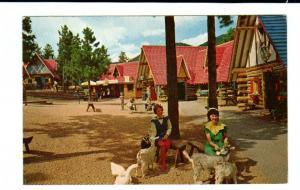 Fairyland Village Santa Workshop North Pole Colorado 1964 postcard