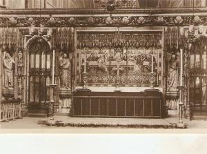 Westminster Abbey. The High Altar Tuck Real Photograph PC # 3717