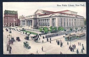 New Public Library New York New York unused c1910's