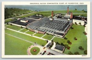 Painesville Ohio~Industrial Rayon Corporation Plant Birdseye View~1940s Postcard