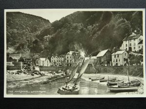 Devon LYNMOUTH The Harbour - Old RP Postcard by E.J. Pedder, P.O. Lynmouth