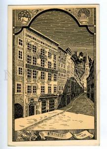 192129 AUSTRIA SALZBURG composer Mozart hause ART NOUVEAU PC