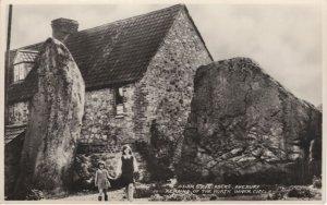Adam & Eve Rocks Mystic Children Avebury Old Wiltshire Postcard