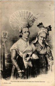 CPA Troyes- Paysannes sous l'ancien Costume FRANCE (1007772)