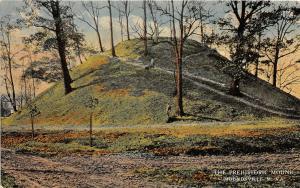 F23 Moundsville West Virginia Postcard c1910 Prehistoric Indian Mound 1
