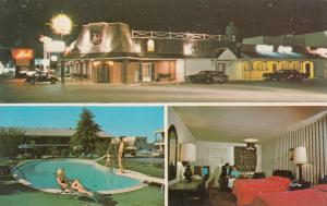 DOVER , Delaware, 50-60s ; Quality Inn, Parking Lot, Swimming Pool and Room