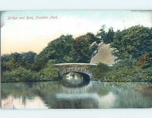 Pre-1907 BRIDGE AT FRANKLIN PARK Roxbury Massachusetts MA hp9557