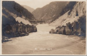 Byron Harmon #80 Hell's Gate BC Fraser River Along CPR Real Photo Postcard G91