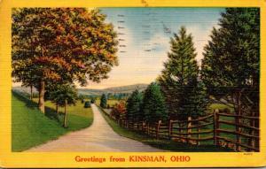 Ohio Greetings From Kinsman 1955
