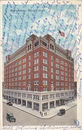 Wolford Hotel Danville Illinois 1928