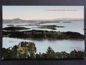 Scotland: The Islands from Mulia Loch Lomond c1940's by Valentine