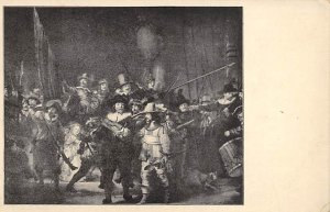 Art Post Card,Old Vintage Artist Postcard Rembrandt Van Rijn Frns Bannining C...
