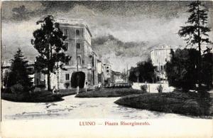 CPA AK Luino Piazza Risorgimento ITALY (553387)
