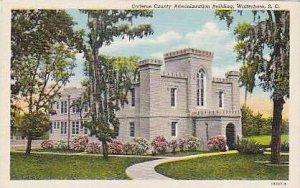 South Carolina Walterboro Colleton County Administration Building Curteich