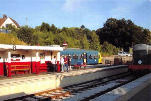 Postcard WIRKSWORTH Railway Station Derbyshire Railcar M51188 & D8001 #3C1