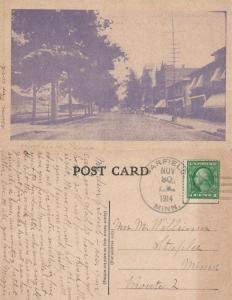 HONESDALE PA STREET SCENE 1914 ANTIQUE POSTCARD