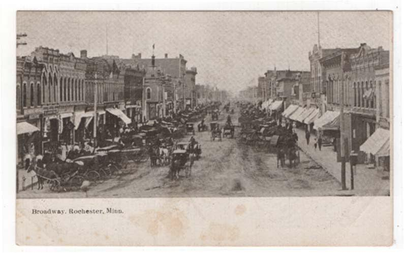 Rochester, Minnesota, Early View of Broadway