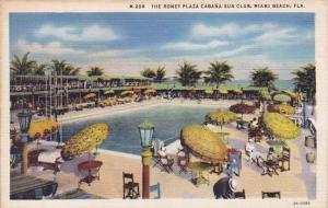 Florida Miami Beach The Roney Plaza Cabana Sun Club