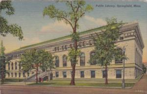 Massachusetts Springfield The Public Library 1956 Curteich