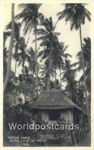 Native Shack Land of Palms Philippines Writing On Back