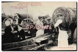 Postcard Old Normandy Scene Fair TOP cider Merchants
