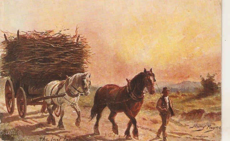 Harry Payne. The last load  Tuck Oilette British Pastures Ser. PC # 9222