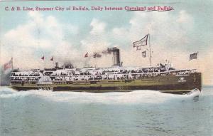 C. & B. Line, Steamer City Of Buffalo, Daily Between Cleveland & Buffalo, 190...