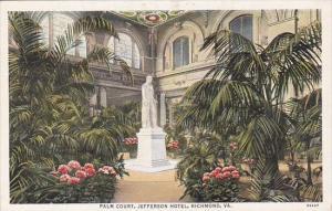 Virginia Richmond Palm Court Jefferson Hotel