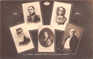 BF38157 leopold I marie louise et leurs enfants   belgium  queen king royalty