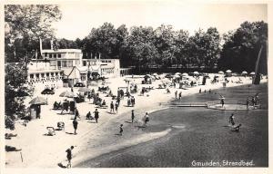 BG25930 gmunden strandbad  germany