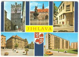 Czech Republic, JIHLAVA, multi view, 1960s-70s used Postcard
