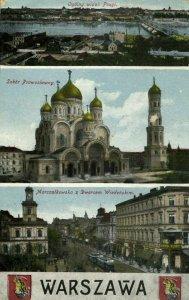 poland, WARSAW WARSZAWA, Sobór Prawosławny, Dworcem Wiedeńskim (1910s) Postcard