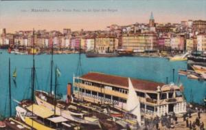France Marseille Le Vieux Port vu du Quai des Belges
