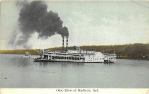 F93/ Madison Indiana Postcard c1910 Ohio River Steamer Louisville