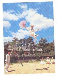 Walking a tightrope of Namsa-dang , Korea , 50-70s