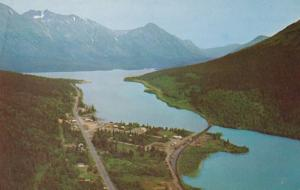 Alaska Moose Pass and Kenai Lake Aerial View
