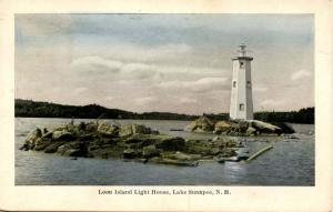 NH - Lake Sunapee. Leon Island Lighthouse