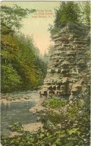 Point Rock on Fish Creek near Rome NY 1914 used Postcard