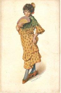 J.Garcia Gutierrez. spanish Lady. tipo Español Nice spanish postcard 1920s