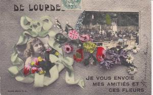 2-Views, Je Vous Envoie Mes Amities Et Ces Fleurs, De Lourdes (Hautes-Pyré...