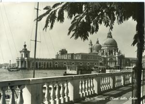 Italy, Venice, Venezia, Chiesa della Salute, 1955 used RPPC