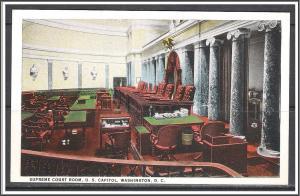 Washington DC Supreme Court Room US Capitol - [DC-090]