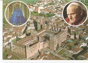 Postal 025014 : Visita del Papa Juan Pablo II Guadalupe (Caceres)