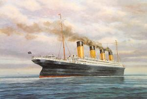 RMS Titanic en-route to Cherbourg Modern White Star Line Ship Steamer Unused