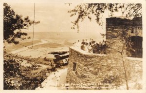 RPPC Och's Memorial, Umbrella Rock, Lookout Mt., Chattanooga, TN 1946 Postcard