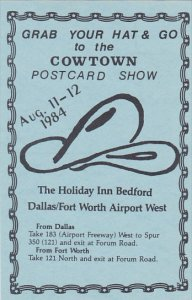 Cowtown Postcard Show 11-12 August 1984
