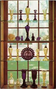 Sandwich Glass Museum Amethyst and Yellow Window exhibit  - Massachusetts