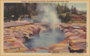 Yellowstone National Park, WYO., Oblong Geyser Crater - Haynes Studio -
